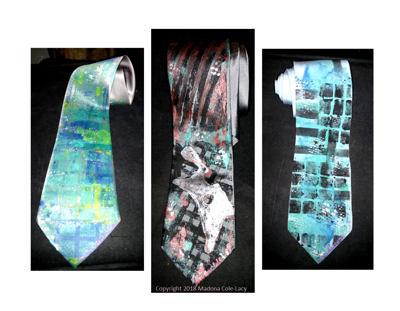Handcrafted silk neckties